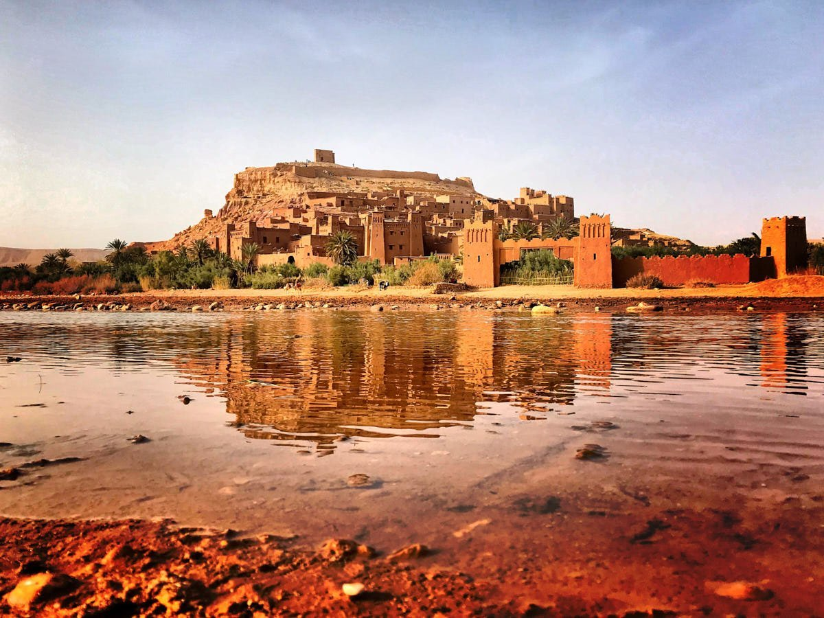 A view of Ait Ben Haddou from the river